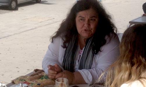 Àngela Pons, portavoz de la PAH en Mallorca