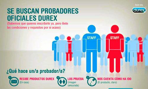 Durex busca probadores oficiales
