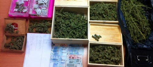 La policía desmantela un punto de venta de marihuana en Palma