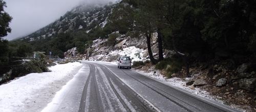Nieve de nuevo en la Serra