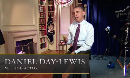 Obama y Spielberg parodian 'Lincoln'