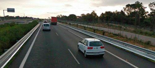 Herido muy grave tras ser atropellado en la autopista a Llucmajor