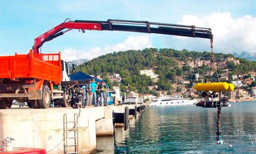 Probado un robot submarino inteligente en el Port de Sóller