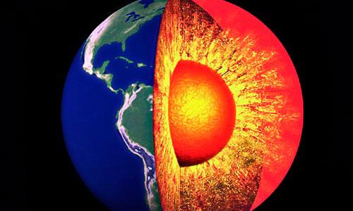 El centro de la Tierra es mil grados más caliente de lo pensado