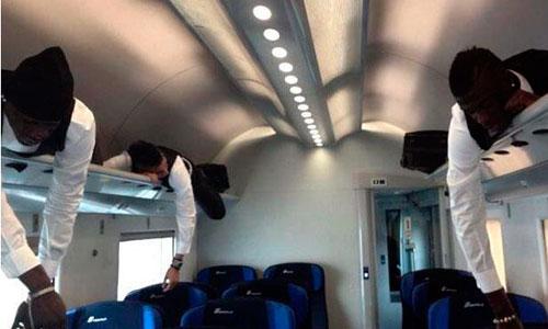 Balotelli y compañía duermen en el maletero del tren