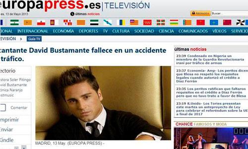 Europa press asegura que la muerte de Bustamante es un montaje falso