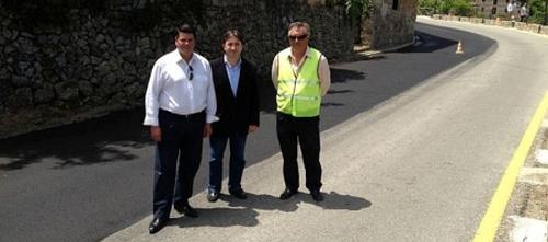 Comienzan las obras de asfaltado de la carretera Deià-Valldemossa