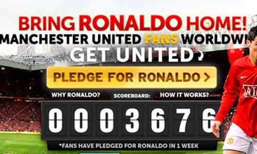 Aficionados del United recaban fondos para fichar a CR7