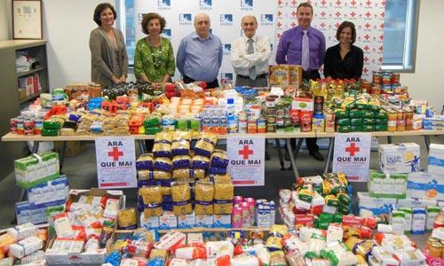 Los empleados de Endesa aportan 900 Kg de alimentos