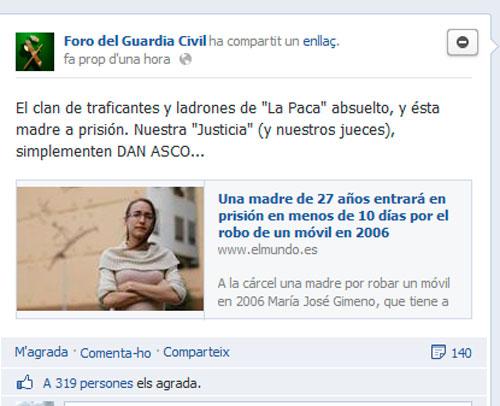 Clamor en la Guardia Civil contra los jueces por la absolución