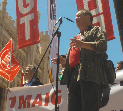 Escasa participación en la manifestación del 1 de mayo