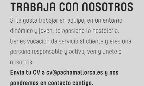 Pachá busca empleados para su retorno a Palma