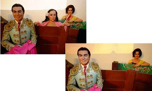 Isabel Pantoja recoge su vestido del Museo de Cera