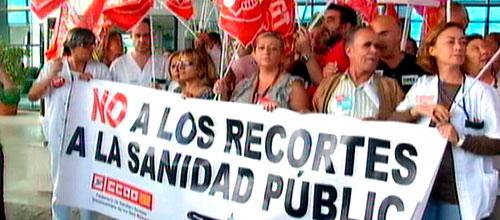 Tres días de protestas en los hospitales contra la amortización de plazas