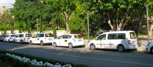 Los taxis de Palma anuncian una caravana de protesta
