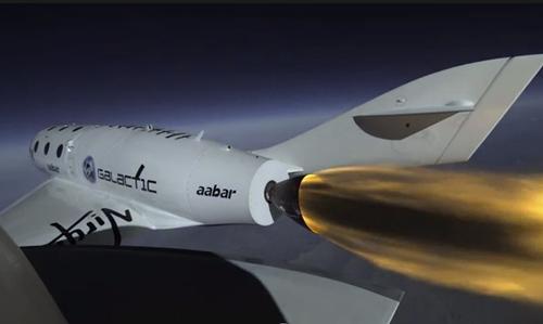 Virgin Galactic estrena los motores de su nave espacial