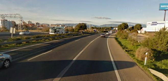 Muere un peatón atropellado por cuatro vehículos al cruzar la autopista