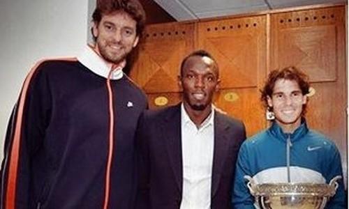 Nadal, agradecido a Pau Gasol y Usain Bolt
