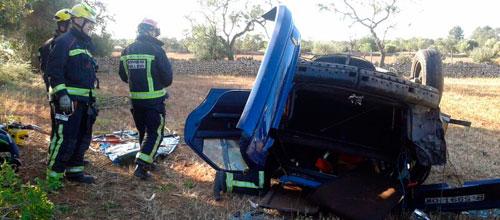 Accidente mortal en la carretera de Campos a Llucmajor