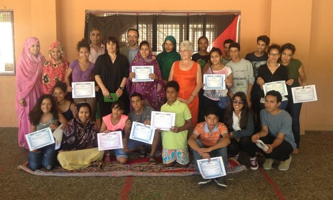 Entrega de diplomas de fin de curso a los alumnos saharauis