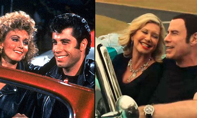 John Travolta y Olivia Newton-John, 35 años después