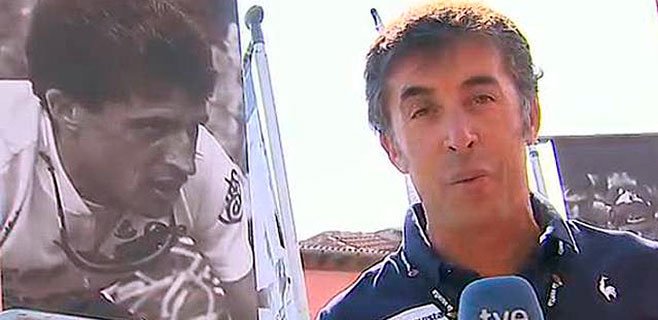 Pedro Delgado se cae del Tour