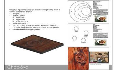 Una tabla de cortar de cocina, interactiva