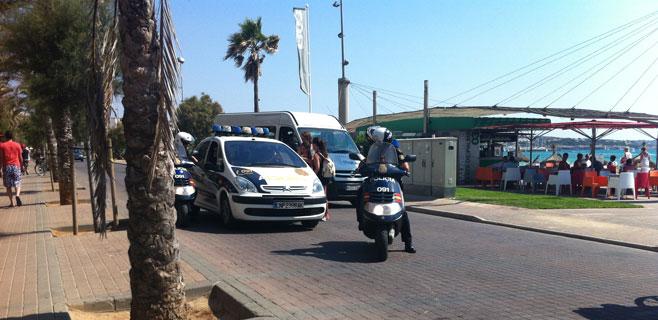 La seguridad de la Platja de Palma se hace de madrugada con horas extra