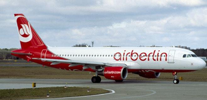 Air Berlin cae en temporada alta: un 5,1% menos de pasajeros en julio