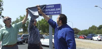 Marratxí inaugura la calle Antoni Planas Juan en el Figueral