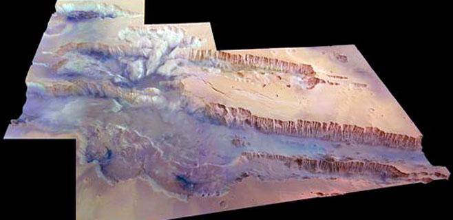 Mars Express capta el cañón más grande del Sistema Solar