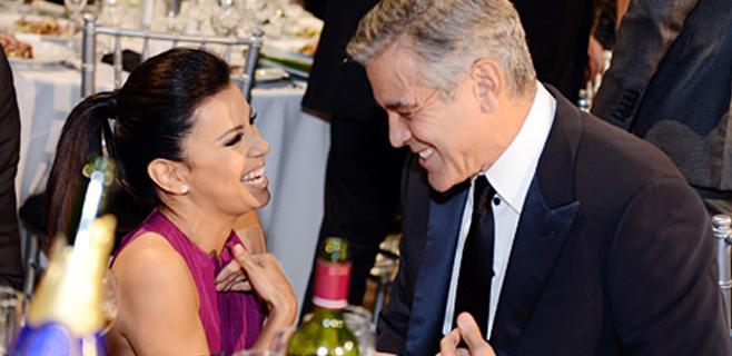 Longoria da una lección de fidelidad a Clooney