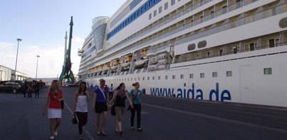 Baleares aumenta en un 64% la visita de cruceristas hasta el mes de mayo