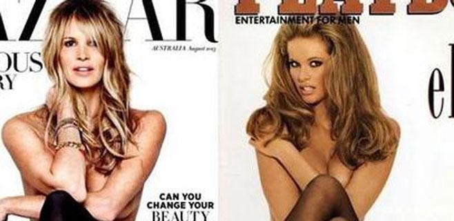Elle Macpherson en 'topless' 20 años después