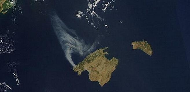 Un incendio visible desde el satélite