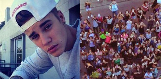 Justin Bieber escupe a sus fans