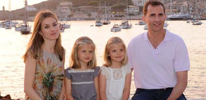 Para Letizia las vacaciones en Mallorca son trabajo