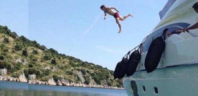 Las acrobacias de Luka Modric en sus vacaciones