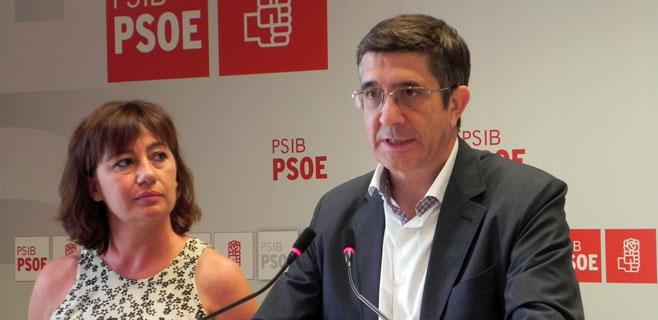 Patxi López acusa de Bauzá de ser sumiso ante el gobierno de Rajoy