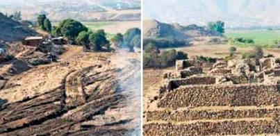 Vándalos destruyen una pirámide de 5.000 años