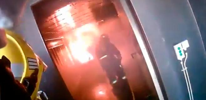 Los bomberos de Palma exhiben sus maniobras en la red