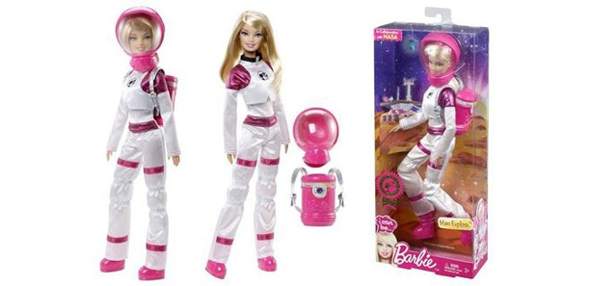 La NASA y Mattel lanzan 'Barbie exploradora en Marte'