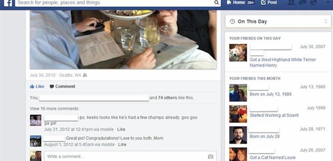Facebook inventa su propia máquina del tiempo