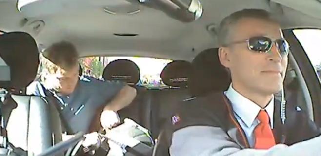 El primer ministro noruego, de taxista
