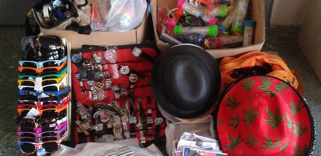 Intervenido material a 31 vendedores ambulantes en el norte de la isla