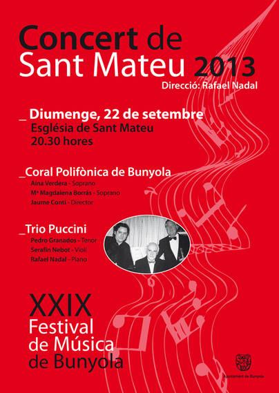 Nueva edición del Concert de Sant Mateu de Bunyola