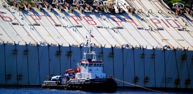 El Costa Concordia, listo para ser reflotado