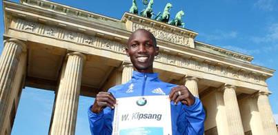 El keniata Wilson Kipsang logra el récord del mundo de maratón