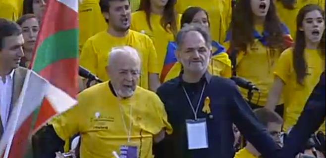 Mallorquines en primera línea de la Vía Catalana por la independencia