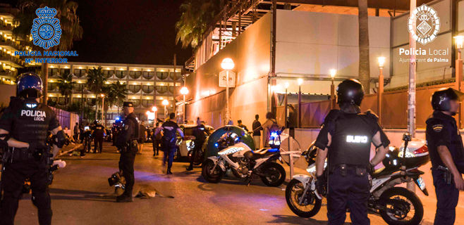 Detenidas 18 personas en Platja de Palma por estancia ilegal en España